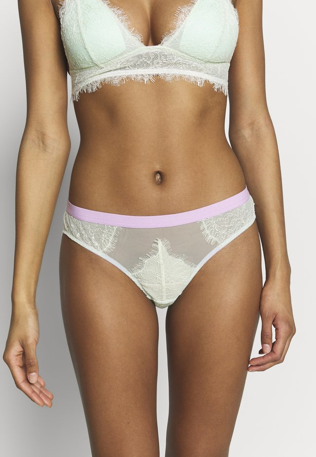 MARLOWE SEAMLESS BACK KNICKER - Slip - lime