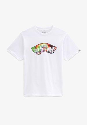 BY OTW LOGO FILL  - Print T-shirt - white/spiral tie dye