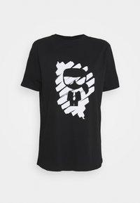 KARL LAGERFELD - IKONIK GRAFFITI  - T-Shirt print - black - 5