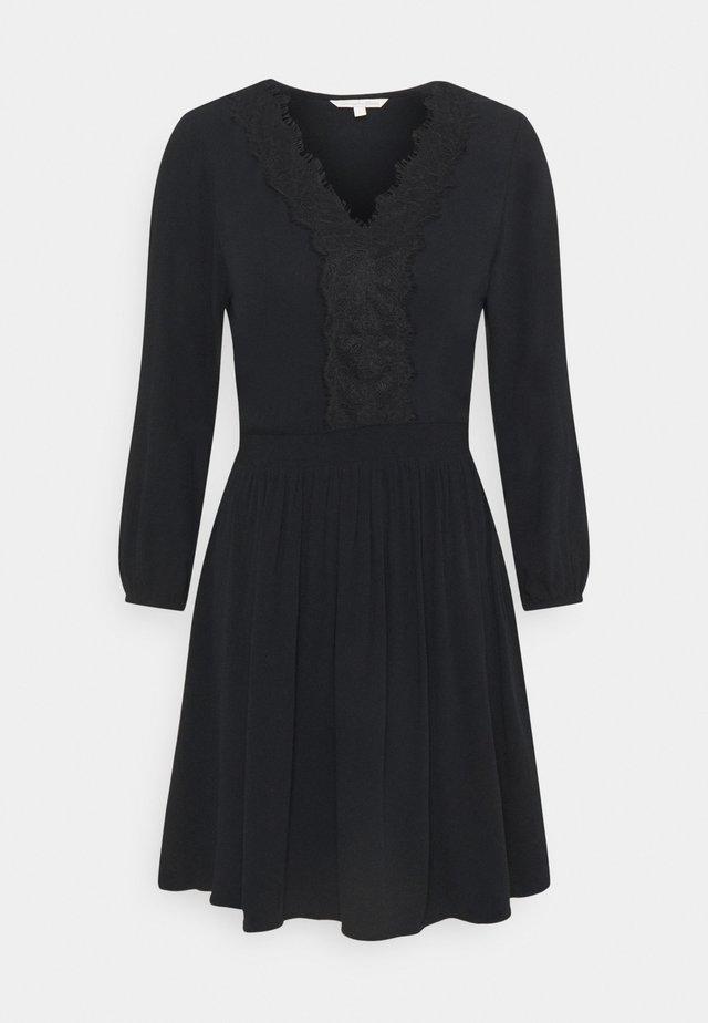 MINI DRESS - Vapaa-ajan mekko - deep black
