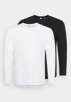 LONGSLEEVE 2 PACK - Top sdlouhým rukávem - charcoal/white