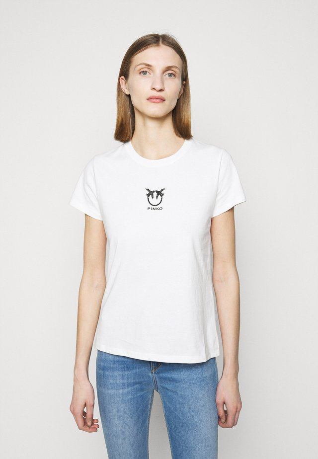 BUSSOLANO  - T-shirt z nadrukiem - white