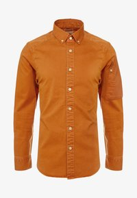 G-Star - STALT STRAIGHT BUTTON DOWN POCKET - Koszula - aged almond - 4