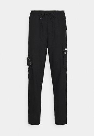 COLLANA TRACK PANTS UNISEX - Pantalon cargo - black