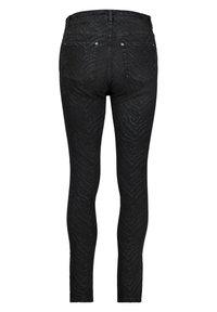 Monari - MIT ZEBRA-PRINT - Jeans Skinny Fit - schwarz - 2