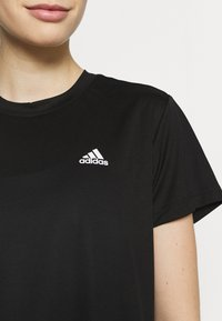 adidas Performance - Print T-shirt - black/white - 3