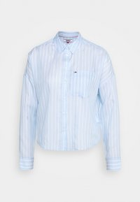 Tommy Jeans - BOLD STRIPE - Button-down blouse - white/moderate blue - 4