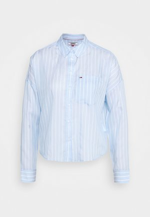 BOLD STRIPE - Button-down blouse - white/moderate blue