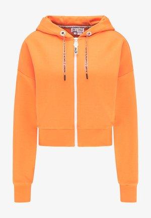 Sweater met rits - orange