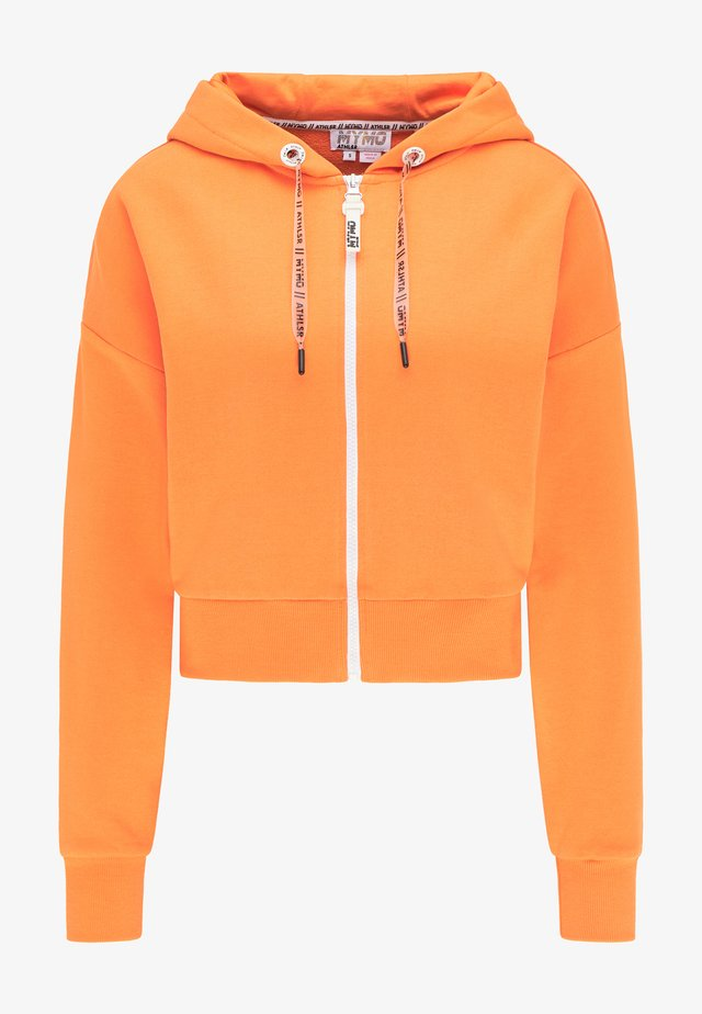 Zip-up hoodie - orange