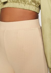 Even&Odd - Wide Cropped Pants - Trousers - cuban sand - 4