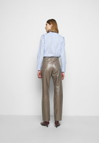 Bally - LEATHER TROUERS - Leather trousers - dove - 2