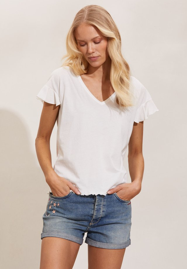 CAMELLIA - T-shirt - bas - light chalk