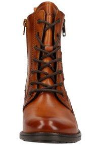 Bugatti - Lace-up ankle boots - cognac 6300 - 5