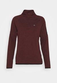 Calvin Klein Golf - KAHN ZIP NECK - Top sdlouhým rukávem - blackberry - 4