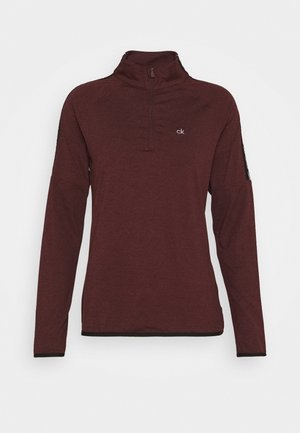KAHN ZIP NECK - Long sleeved top - blackberry