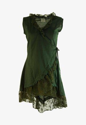 MIT SPITZE - Blouse - dark green