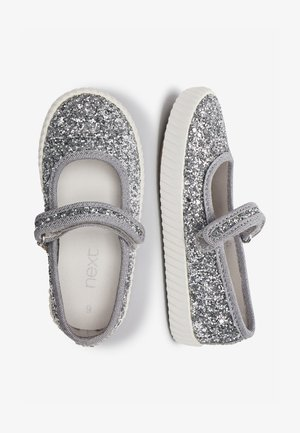 SILVER GLITTER MARY JANE PUMPS (YOUNGER) - Ankle strap ballet pumps - silver