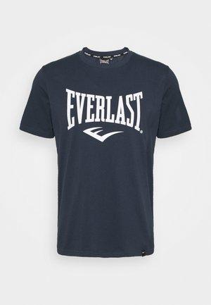 BASIC TEE RUSSEL - T-shirt med print - navy