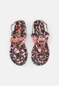 Buffalo - VEGAN REBECCA - T-bar sandals - black/pink - 5