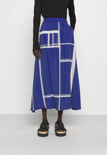 BOX - Áčková sukně - limouges blue