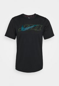 Nike Performance - T-shirt print - black/green abyss - 4