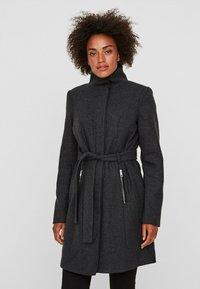 Vero Moda - Short coat - dark grey melange - 0