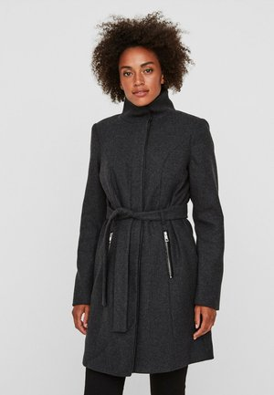 Short coat - dark grey melange