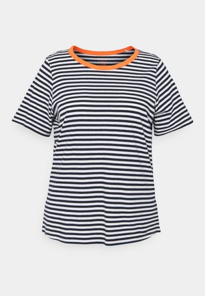 T-shirts med print - navy/white