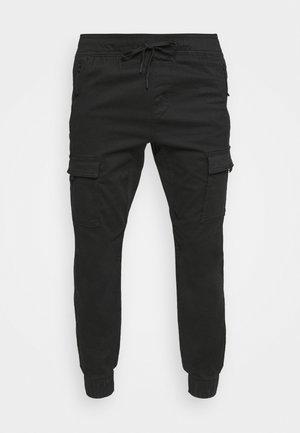 JOGGER - Pantaloni - black/white