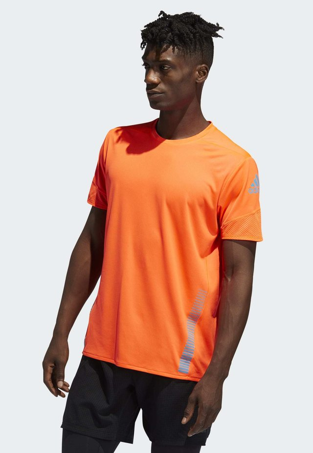 RISE UP N RUN PARLEY T-SHIRT - Print T-shirt - orange