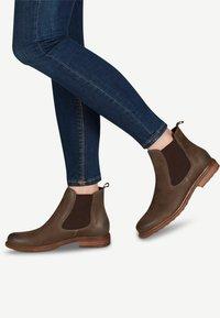 Tamaris - BOOTS - Classic ankle boots - dk. olive/moc. - 0