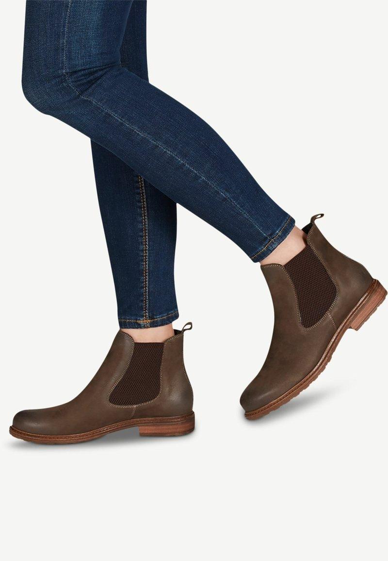 Tamaris - BOOTS - Classic ankle boots - dk. olive/moc.