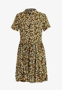 PIECES Tall - PCLALA SS DRESS - Shirt dress - black/small flowers - 5