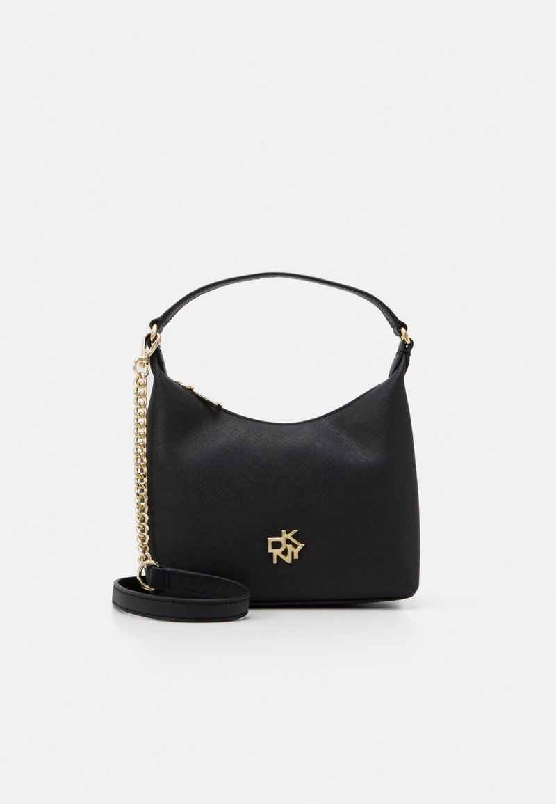 DKNY - CAROL MINI POUCHETTE - Kabelka - black/gold-coloured