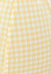 Bershka - MIT VICHYKAROS - Day dress - yellow/white - 5