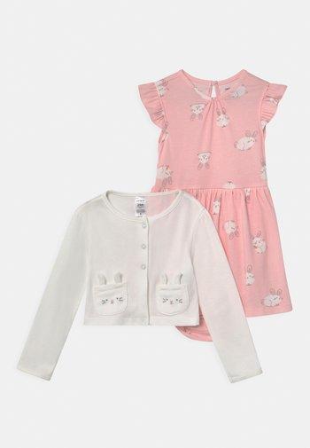 SET - Cardigan - light pink/white