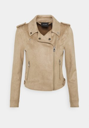 VMBOOSTBIKER JACKET - Faux leather jacket - silver mink