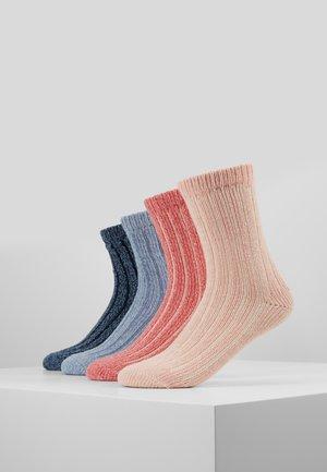 UNISEX FASHION HYGGE 4 PACK - Socks - stone melange