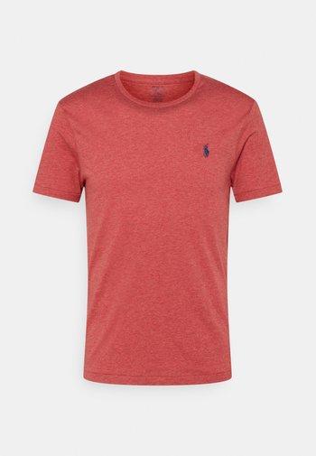 CUSTOM SLIM FIT JERSEY CREWNECK T-SHIRT - T-shirt basic - venetian red heather