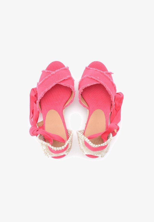 Sandali con plateau - rosa