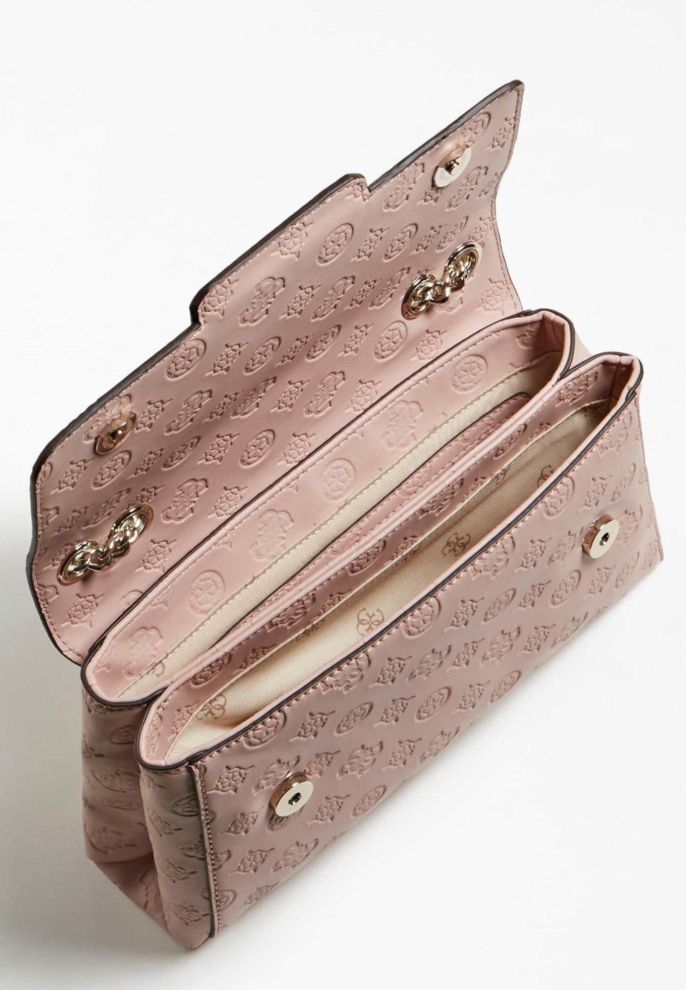 Guess EMILIA LOGO PIVOINE - Across body bag - rose