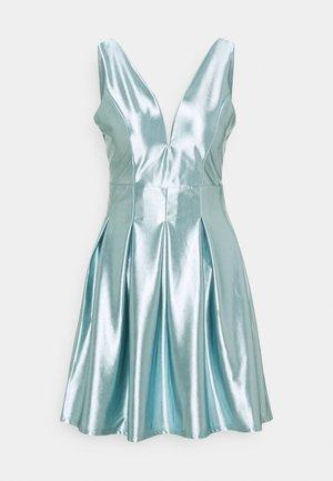 PLEATED SKATER DRESS - Cocktail dress / Party dress - light blue