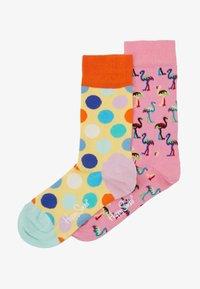 Happy Socks - 2 PACK FLAMINGO  BIG DOT  - Socks - multi - 1