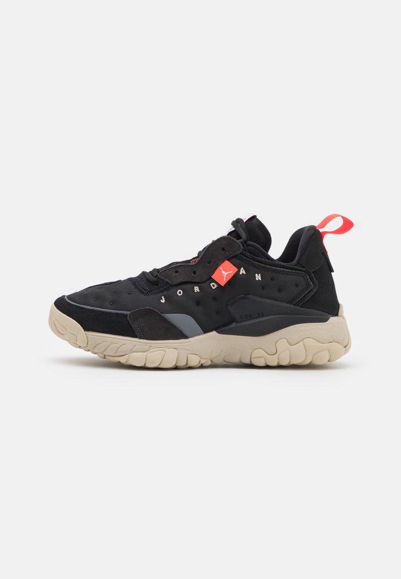 Jordan - DELTA 2 UNISEX - Sneakers basse - black/infrared 23/off noir/oatmeal/white/metallic silver