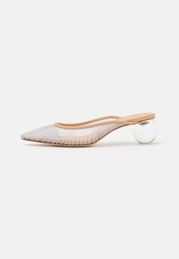 ALIA MULE - Pantofle na podpatku - clear