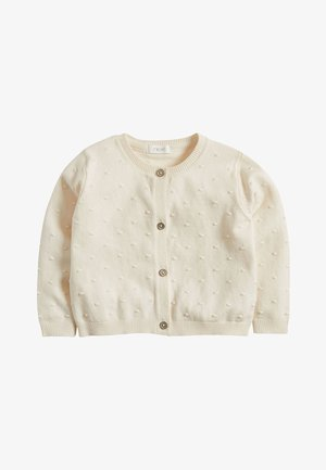 ECRU BOBBLE CARDIGAN (3MTHS-7YRS) - Neuletakki - white