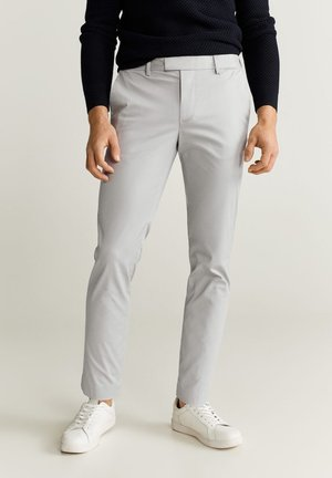 SLIM FIT-HOSE AUS TECHNISCHEM GEWEBE - Pantalon classique - grau