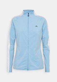 Zip-up hoodie - summer blue
