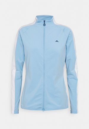 MARIE GOLF MID LAYER - Mikina na zip - summer blue